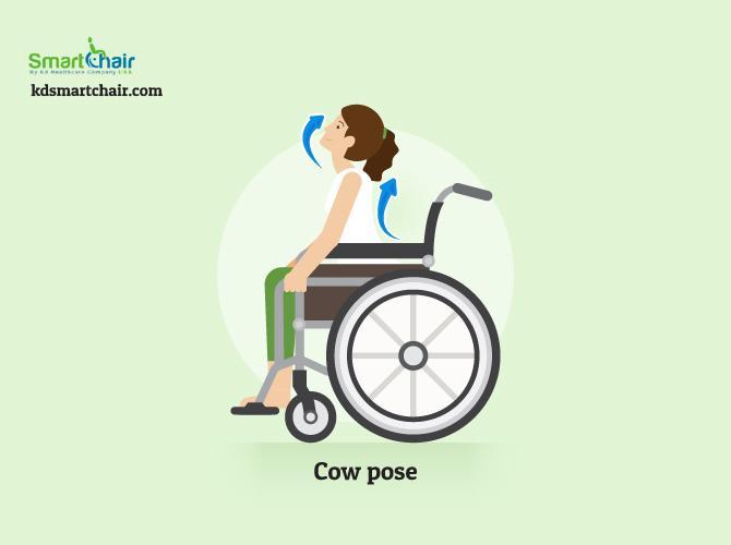 wheelchair yoga cow pose