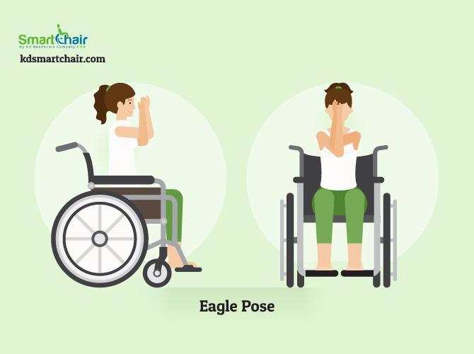 wheelchair yoga eagle pose