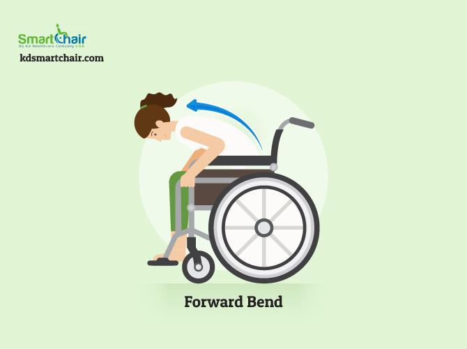 wheelchair yoga forward bend pose