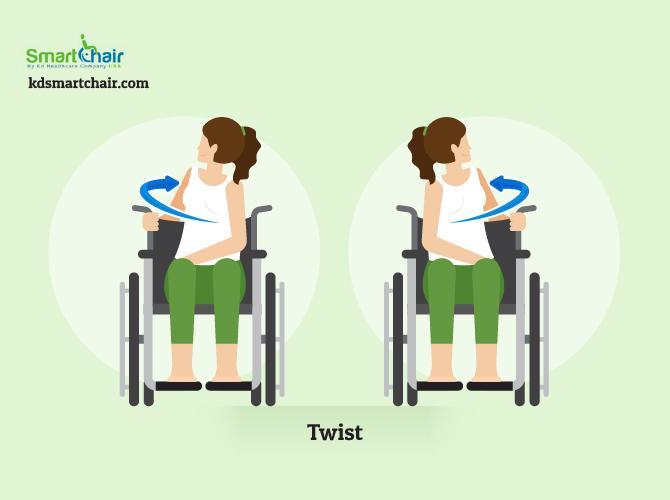 wheelchair yoga twist pose