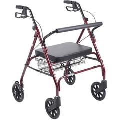 Drive Medical Heavy Duty Bariatric Walker Rollator with Large Padded Seat medium