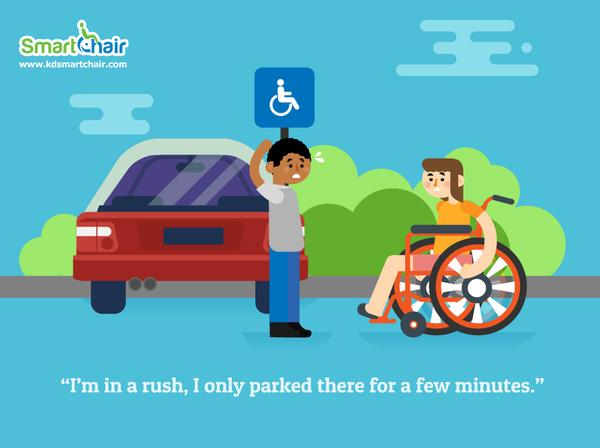 I m in a rush I only parked there for a few minutes Wheelchair 01 grande