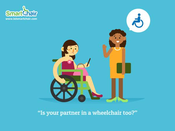 Is your partner in a wheelchair too grande