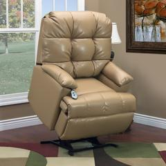 Med Lift Wall A Way Reclining Lift Chair with Fold Out Arms and Element Blue Ultra EZZ III Massage medium