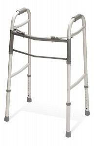 Medline Two Button Folding Walkers without Wheels large