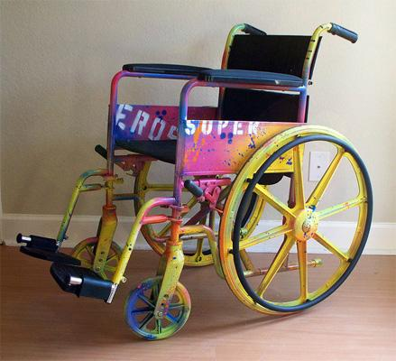 artistic custom painted wheelchair large