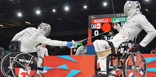 popular wheelchair sports fencing