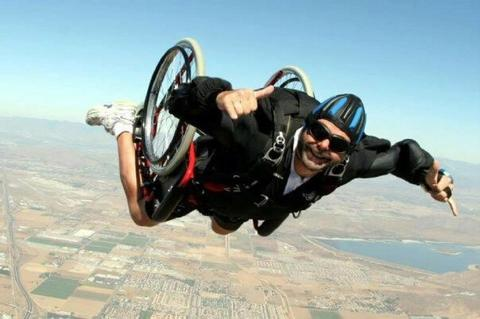 popular wheelchair sports skydiving large