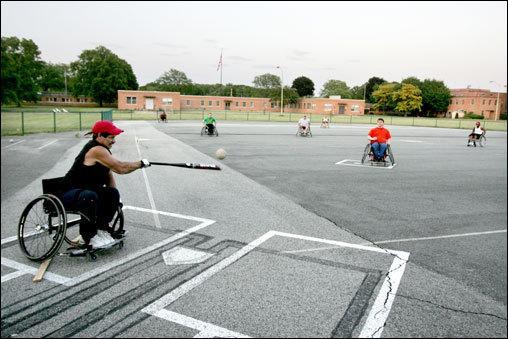 popular wheelchair sports softball