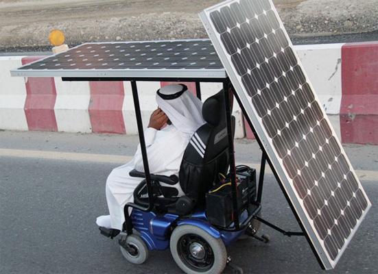 solar panels power wheelchair