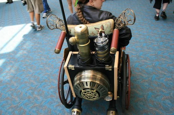 steampunk wheelchair pimped out