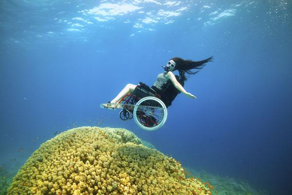 underwater wheelchair deep sea diving