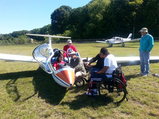 wheelchair sailplane flying