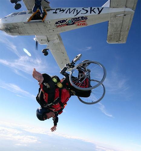 wheelchair skydiving
