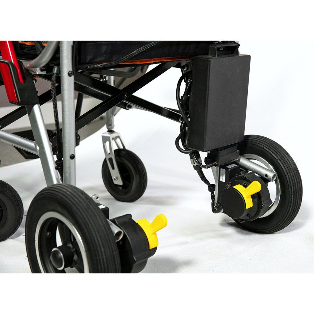 Featherweight wheelchair folding features